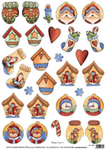 DECO 5235 pupazzi di neve natale country
