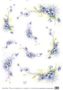DECO AM 7722 fiori blu
