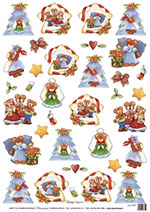 DECO 5207 Natale orsetti angeli country